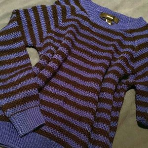 Blue & Black Striped Sweater